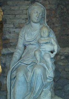 particolare del presepe di Arnolfo di Cambio (Roma, Santa Maria Maggiore)