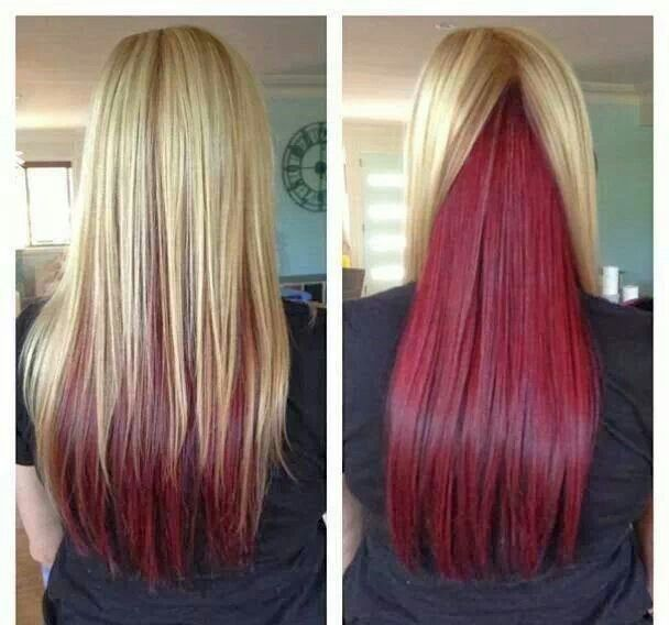 94 best hair colors i like images on pinterest autumn hair blond with red underneath pmusecretfo Choice Image