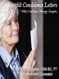 Heartfelt Condolence Letter samples by a bereavement counselor ~