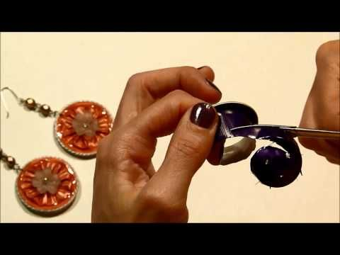 ▶ How to make the base for the Flower Earrings with Nespresso capsules from Handmade.by.Xenia - YouTube