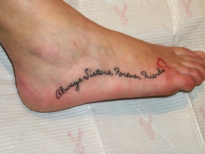 Sister tattoo always sisters forever friends tattoos for Sister tattoos pinterest