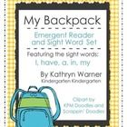 Teachers Pay Teachers FREE emergent reader: Sight Words, Backpacks, Emergent Readers, Sightwords, Backpack Emergent, Reading Level, Tpt Kindergarten, Word Set, Class Book
