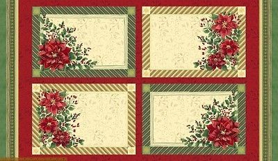 Holiday Traditions~Placemats~Cotton Fabric by Windham Fabrics