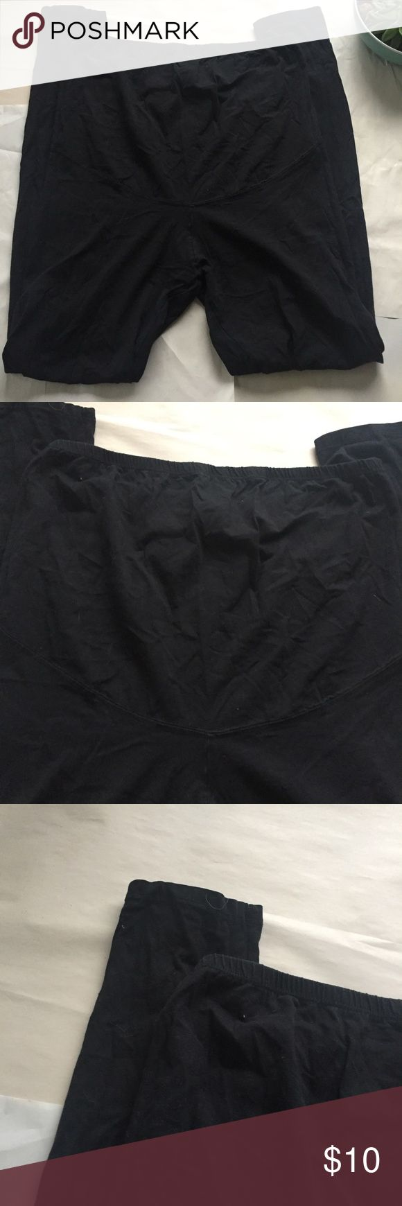 NWOT H&M Mama Black Maternity Leggings Perfect condition black classic leggings with extended waist band. Elastic around the top.   🌟same or next day shipping on all orders (except weekends)🌟make me an offer!🌟 H&M Pants Leggings