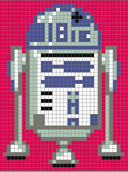 Free! R2D2 Star Wars Pixel Quilt Pattern