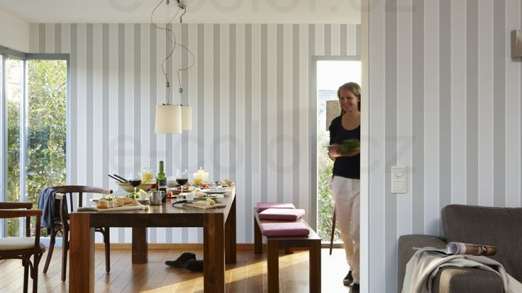 Tapety na zeď Metropolis Palm Springs šedá proužek, tapeta, levné tapety, tapety skladem