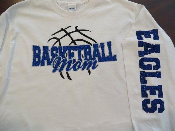 Basketball Mom Glitter Vinyl Bling T-Shirt Choose by BlingByBates