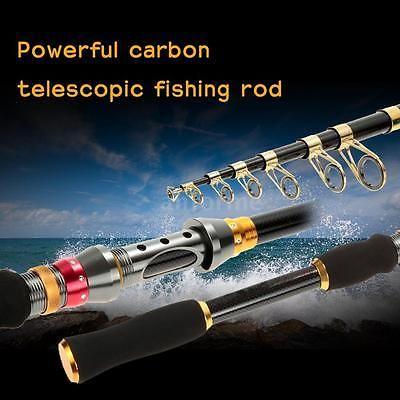 3.0M Superhard Telescopic Carbon Sea Fishing Rods Casting Fishing Pod A9U3