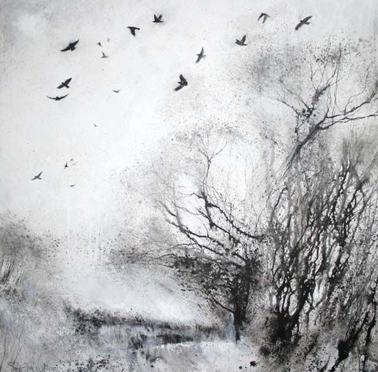 Stewart Edmondson: Of the Fields and of the Sky,2010. Ink on Board