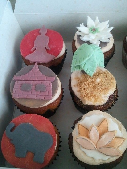 Thailand Themed Cupcakes