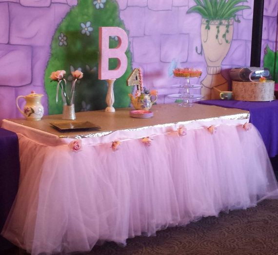 Sweets table custom made tutu table skirt tulle by BaileyHadaParty