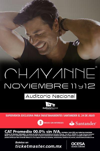 Chayanne, 11 y 12 de noviembre, Auditorio Nacional #ChayanneMx