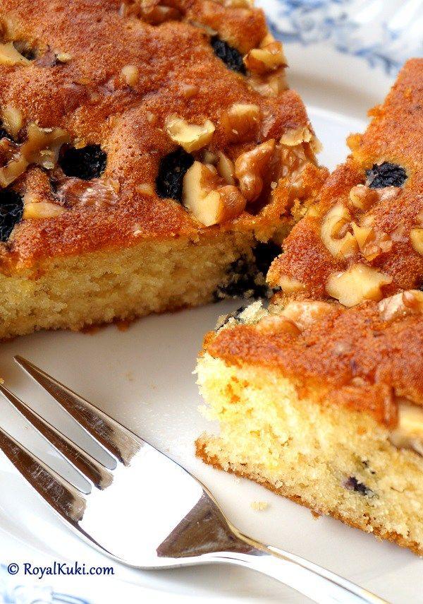 Cevizli üzümlü kolay kek