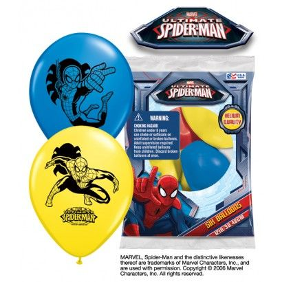 Spiderman Balloons/6-ct | Party Supply Store | Novelty Toys | Carnival Supplies…