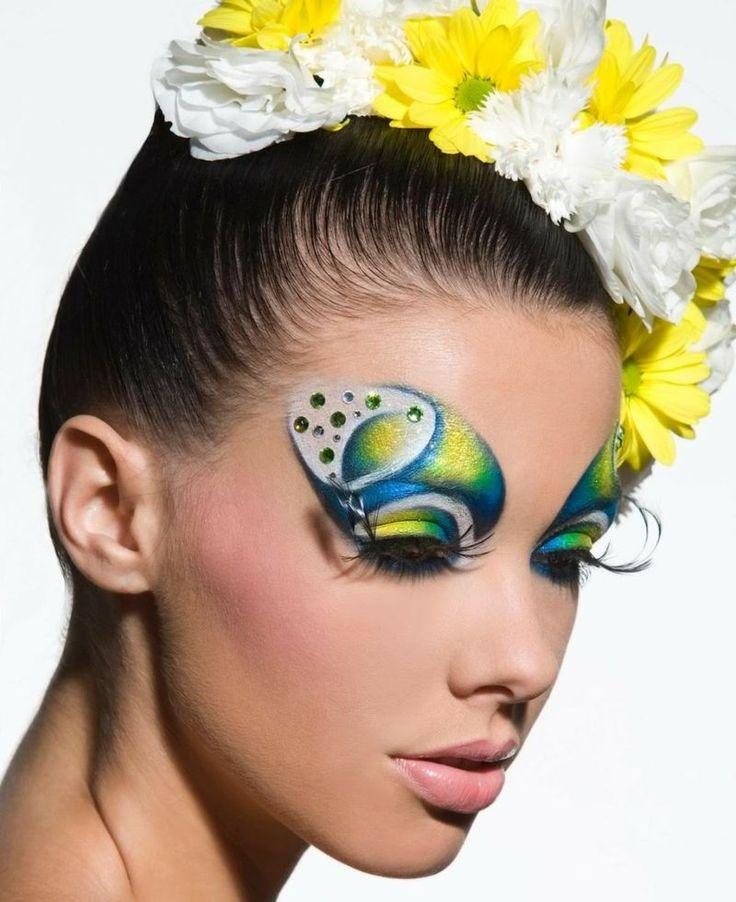 Zum Faschin können Sie tropische Farben wie Gelb, Blau und Grün verwenden