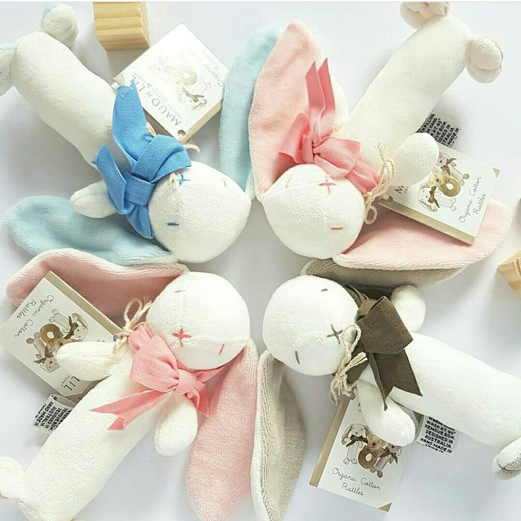 Organic Bunny toy rattles. The perfect baby gift. Head to www.bellaboobaby.com.au to see our whole range 🐰🐰🐰