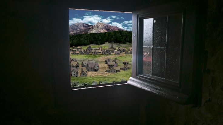 Vue en réalité augmentée des environs du château