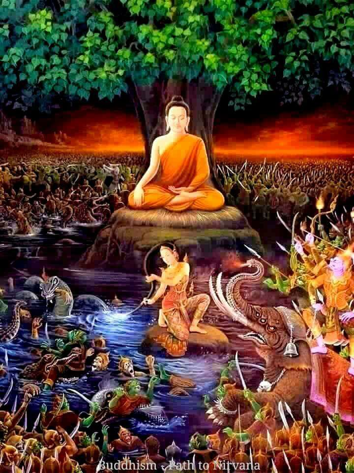 The Earth Deity S Name Changes In Different Countries Generally A Form Of A Word For Earth I E Pṛthivi Kṣiti Dhar ภาพวาดพระพ ทธเจ า พระพ ทธเจ า ศ ลปะไทย