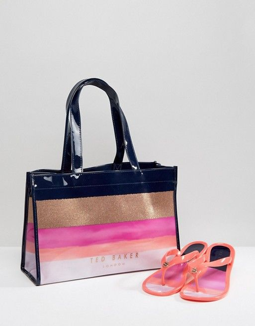 983dc7d85 Ted Baker Julias Marina Mosaic Bag and Flipflop Set