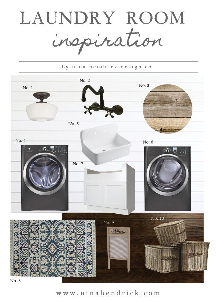 Farmhouse Laundry Room Project Inspiration and Mood Board   Gather inspiration to create a farmhouse style laundry room from this collection.