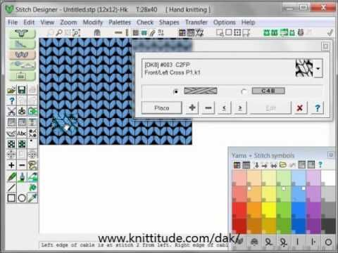 DesignaKnit 8 Stitch Designer Tutorial - Cables