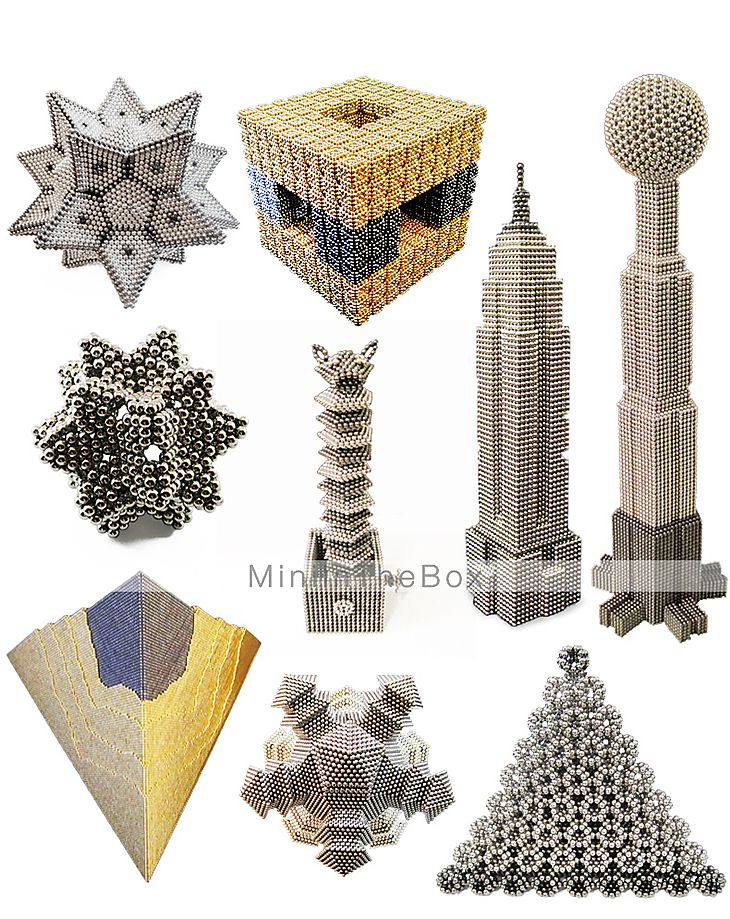 Magnet Toys 216Pcs 5mm Magnet Toys / Neodymium Magnet Executive Toys Puzzle Cube DIY Toys Magnetic Balls Silver Education Toys For Gift 1256045 2017 – $16.99