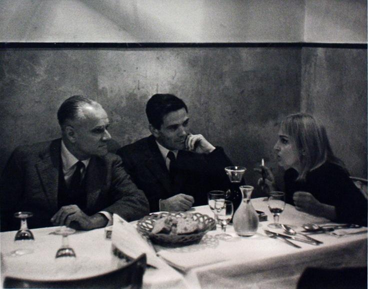 Mario Dondero  Alberto Moravia, Pier Paolo Pasolini, Laura Betti