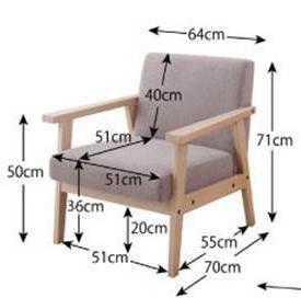 Buy Simple Detachable Small Sofa Small Single Solid Wood Sofa Combinationfurniture $875.60- ICON2