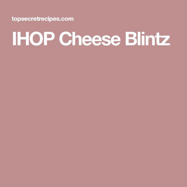 IHOP Cheese Blintz