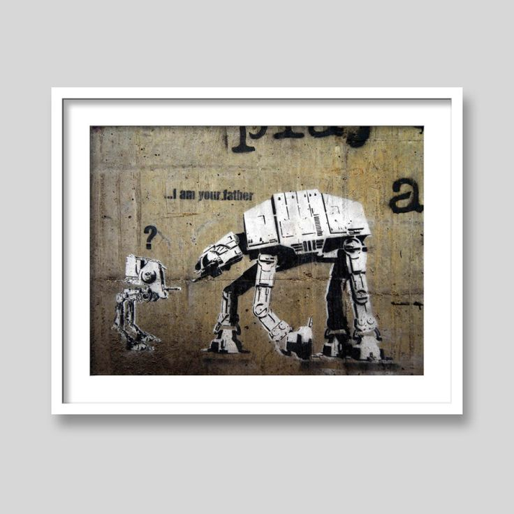 I am your father by Banksy art print | hardtofind.
