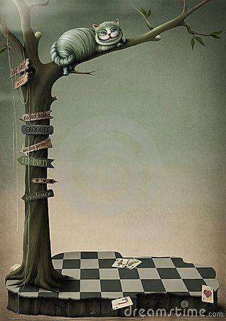 Fantasy poster Cheshire Cat by Annnmei, via Dreamstime