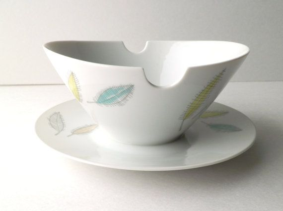 Rosenthal Germany Gravy Boat with Colored Leaves by RenewedFinds, $34.99
