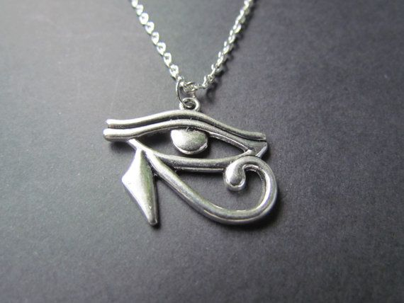 Eye of Horus Necklace - Egyptian Jewelry - Egyptian charm -very cute