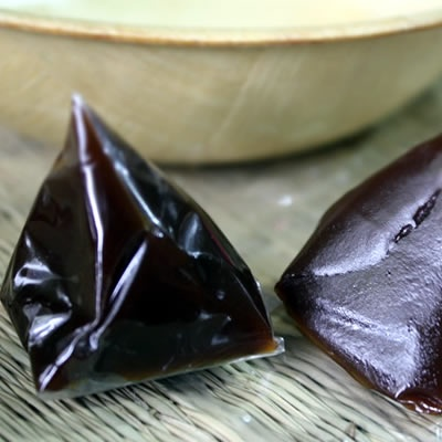 Dodol is a toffee-like sweet food delicacy popular in Indonesia and Malaysia. It is made with coconut milk, rice flour and unrefined whole-caned sugar (or commonly known as gula melaka), and is sticky, thick and sweet.
