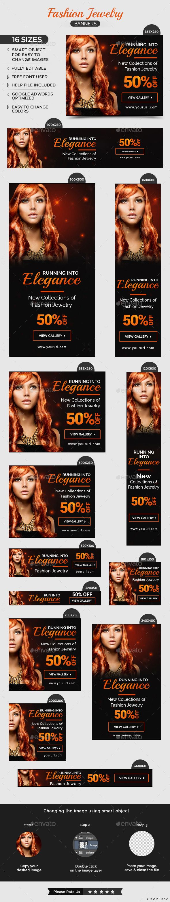 Fashion Jewelry Web Banners Template. Download: http://graphicriver.net/item/fashion-jewelry-banners/11257627?ref=ksioks