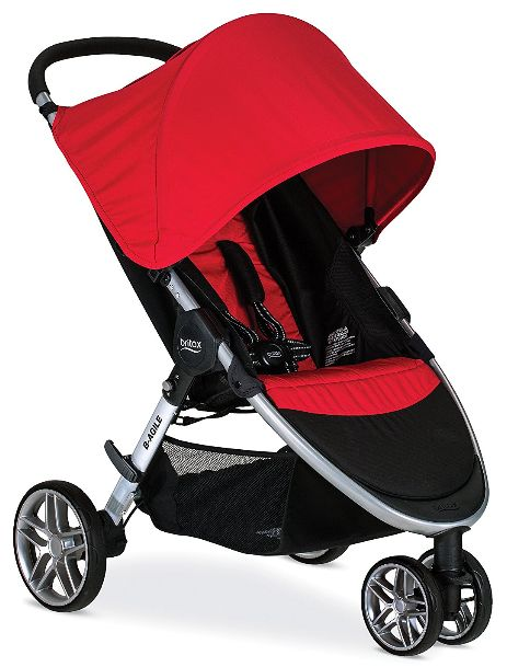 Product: Britax 2017 B-Agile stroller Rating: 4.9 out of 5 stars Best use: Everyday stroller Price: $216 plus free shipping (price may change from the time of this review) Colors: Black, cyan (blue), meadow (lemon green), red, steel Best place to buy: Amazon The 2017 Britax B-Agile stroller is designed for everyday use. First off, it has a lightweight (18 lbs.) aluminum frame that is easy to carry from place to place. It has convenient features like a quick one hand fold, a swiveling front…