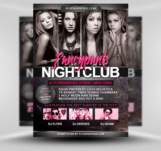 95 Best Free Psd Flyer Templates Images On Pinterest Poster