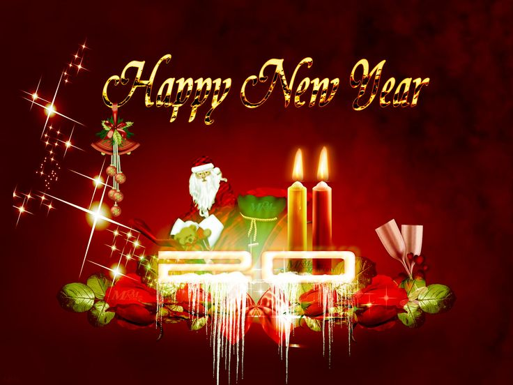 224 best happy new year 2015 images on pinterest happy 2015 happy happy new year card with santa m4hsunfo