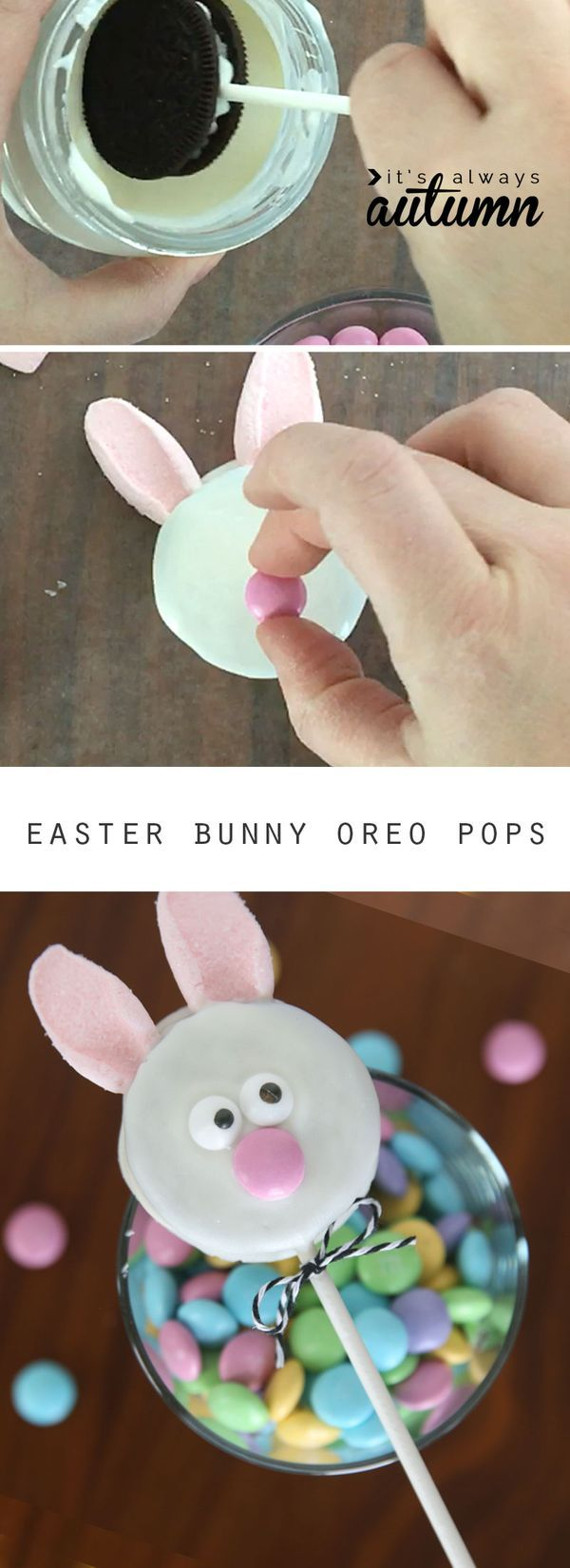 122 best easter desserts images on pinterest easter recipes easy easter bunny chick oreo pops negle Images