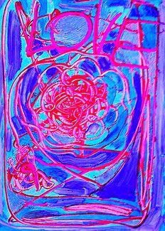 Acrylfarbe auf Papier