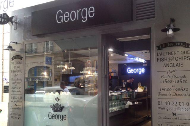 George, Restaurant, Fish & Chips, Burger...  à Paris au rue du faubourg Poissonière dans le 10ème près du métro Bonne Nouvelle