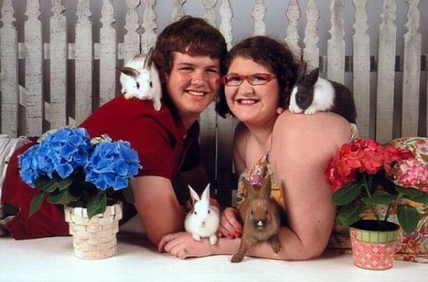 I hope that is not his sister.... awkward family picture.