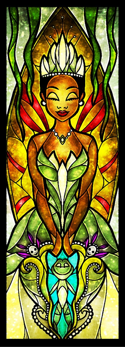 Stained Glass Tiana by Mandie Manzano