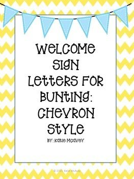 This is FREEBIE that contains chevron themed letters for a Welcome Sign in your classroom. This can be used a number of ways: for bunting, your classroom door, or for a bulletin board. Please view some of my other resources on my Teacher Pay Teachers Store: Motivational Ms MacYou may also like: