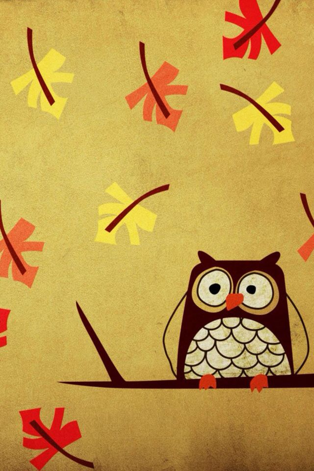 The 25 best cute fall wallpaper ideas on pinterest iphone cute fall owl voltagebd Image collections