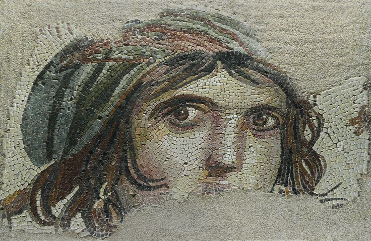 """The Gypsy Girl"" mosaic of Zeugma, from Gaziantep Museum of Archeology"