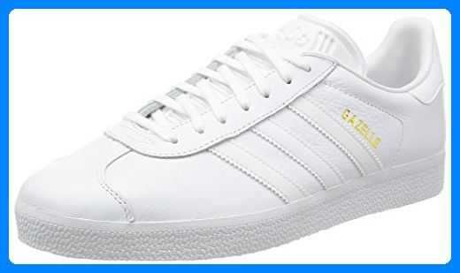adidas Unisex-Erwachsene Gazelle Low-Top, Weiß (Ftwr White/Ftwr White/Gold Met,), 43 1/3 EU - Sneakers für frauen (*Partner-Link)