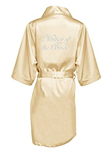 Zynotti Womens Rhinestones Mother Of The Bride Satin Robe  8a6563883
