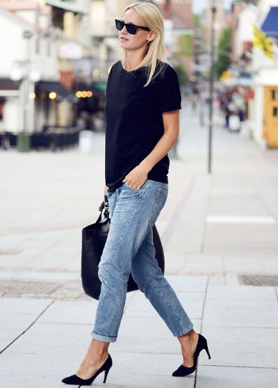 Les escarpins noirs, une bonne manière de sophistiquer un look casual