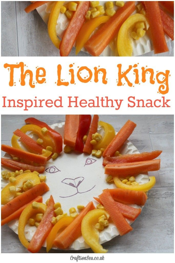 Healthy Disney Inspired Food for Kids: The Lion King Healthy Snack